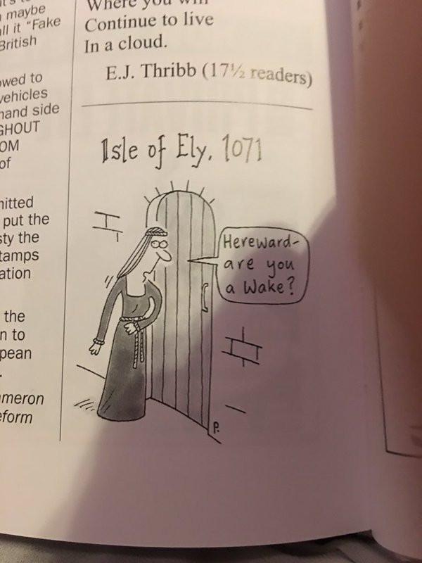 Hereward cartoon 'Are you a Wake?'