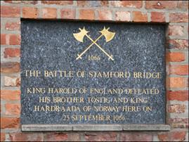 Stamford Bridge 25th Sept' 1066