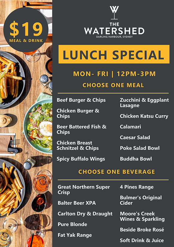 Lunch special A1 board menu design NEW J