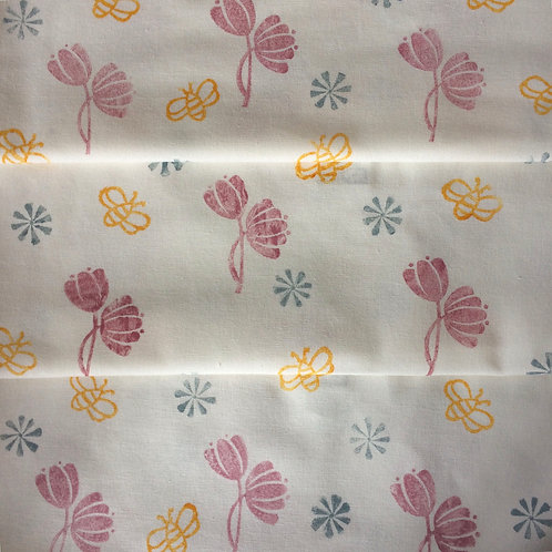 The Bees' Knees organic cotton tea towel