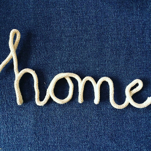 """Home"" rope word art"