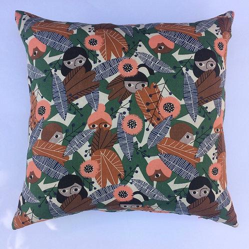Plant People organic cotton cushion