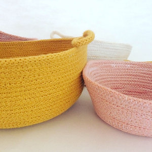 """Dulcie"" recycled cotton Rope Bowl"