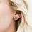 Thumbnail: Rose Gold Druzy Prong Earrings