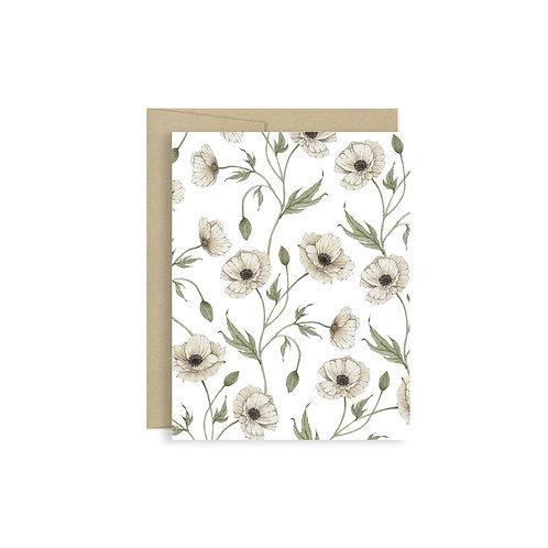 Poppy Pattern Greeting Card