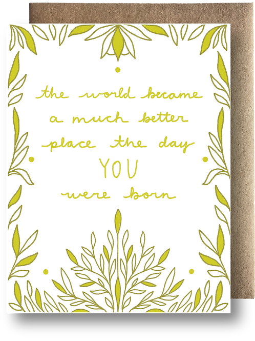 The day you were born Greeting Card