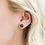 Thumbnail: Black Druzy Prong Earrings