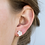 Thumbnail: White Druzy Prong Earrings