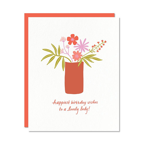 Lovely Lady Birthday Greeting Card