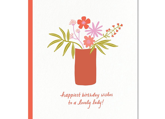 Lovely Lady Birthday Greeting Card