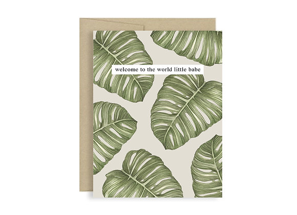 Welcome Babe Greeting Card