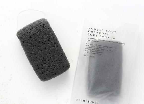 Activated Charcoal Konjac Body Sponge