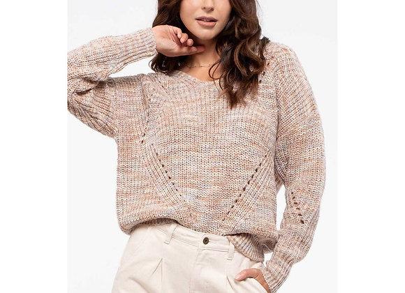 Khaki Knit Marble Sweater
