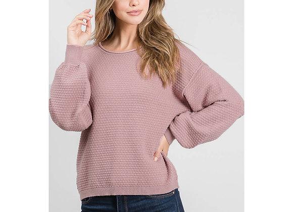 Mauve Soft Cloud Pullover Sweater