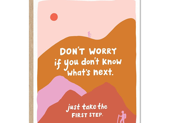 First Step Greeting Card
