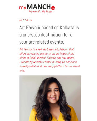 My Manch writes about our journey to becoming India's first discovery platform for the visual arts. Read about our Founders journey here.