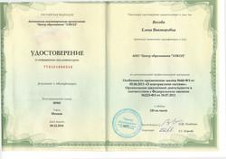 удостоверение Весовой Е.В.