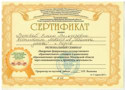 региональный семинар сертификат