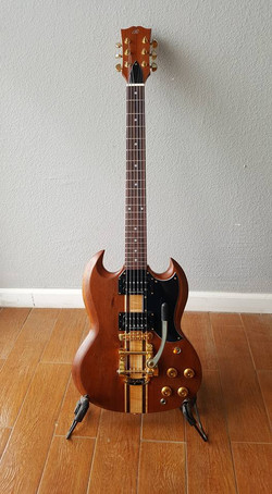 Anthony Swift had this built for his brother, brought me all the wood and parts.SG Beautiful guitar