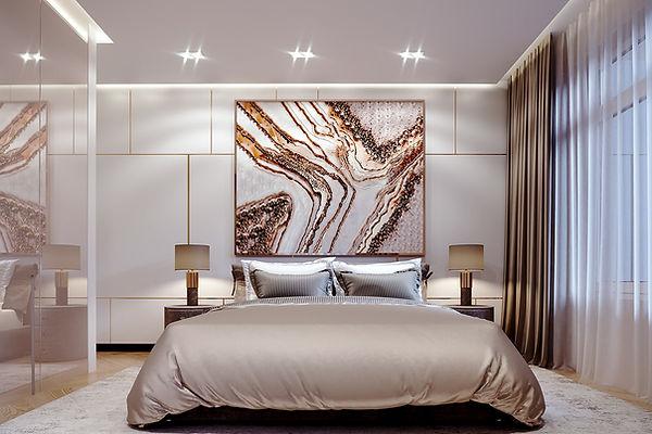 Luxury bedroom Design by Casa Bellisimo Interiors