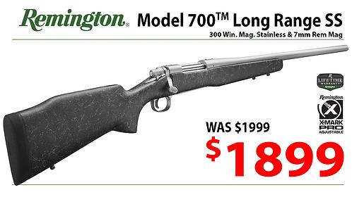 Model 700 Long Range Stainless .300 Win & 7mm Rem Mag. Rifle
