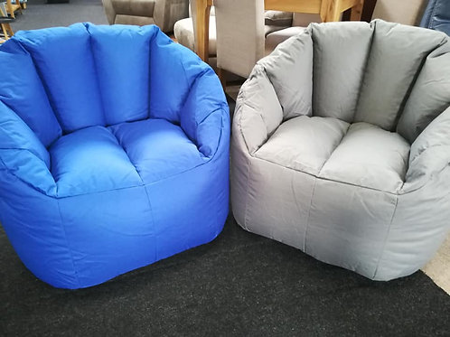 Royal blue Chair Bean bag