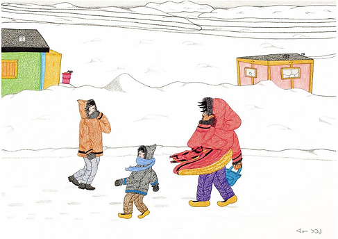 Annie Pootoogook 'A Windy Day' 2006.png
