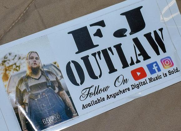 FJ OUTLAW Sticker