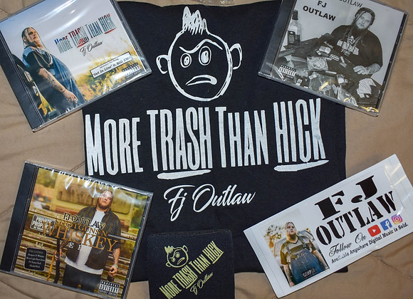 FJ OUTLAW DELUXE MERCH PACK w/ ANY THREE CDs