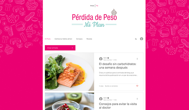 Blogs y Foros plantillas web – Blog de vida saludable