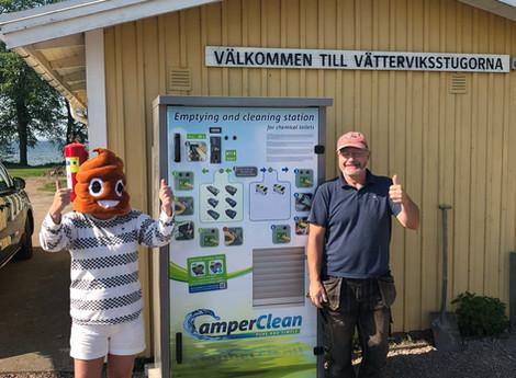Vadstena campingförst i Östergötland