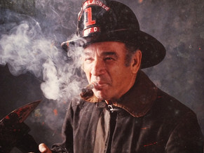 Photograph of a firefighter