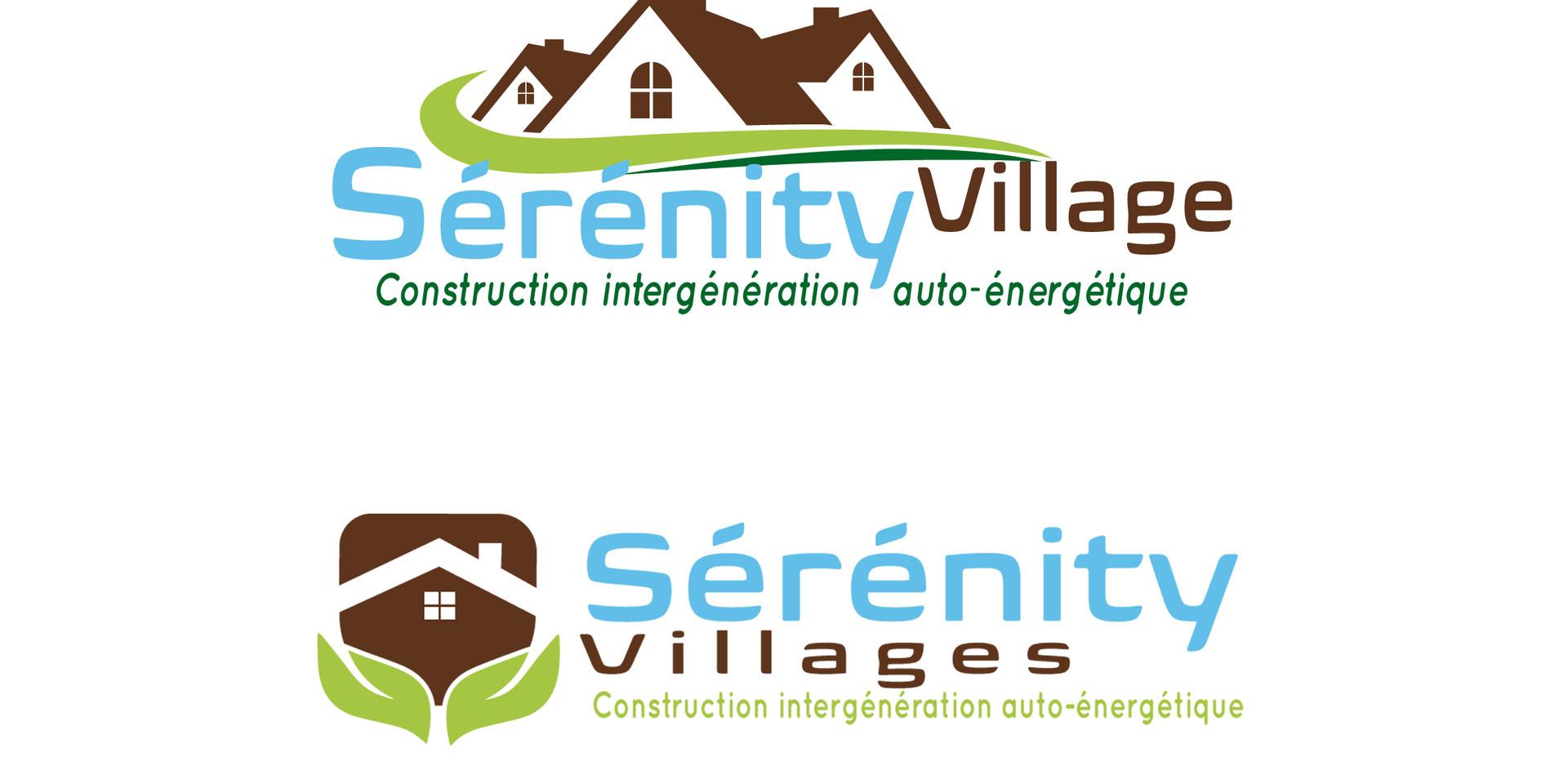 Création logo SÉRÉNITY VILLAGES