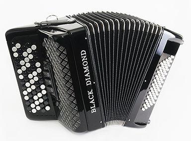 Black Diamond 60-bass B-system chromatic button accordion