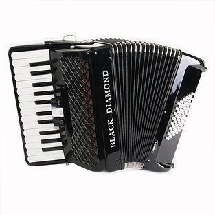 Black Diamond 48-bass piano accordion