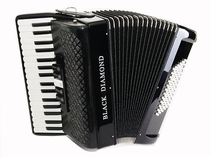 Black Diamond 72-bass piano accordion