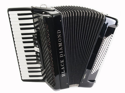 Black Diamond 96-bass piano accordion