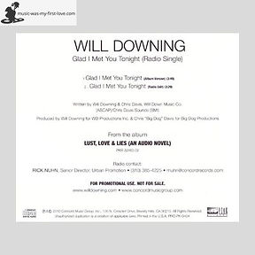 Will Downing - Glad I Met You Tonight