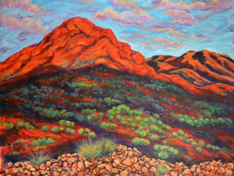 Arkaroola landscape awash in afternoon Vermillion