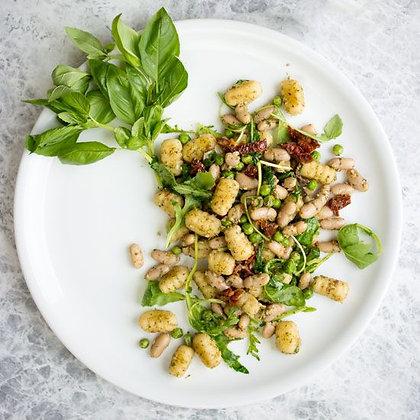 Gnocci Pfanne mit schmor Tomaten und Hülsenfrüchten