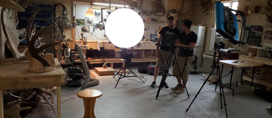 Vidéo corporative | Samuel Côté Sculpture sur Panache