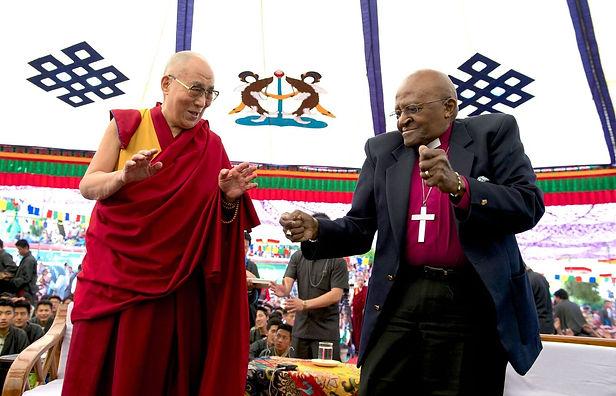 Dalai Lama Dancing with Desmond Tutu