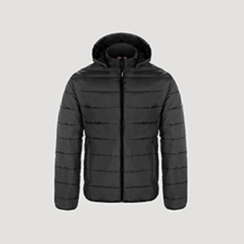 PUFFY JACKET WITH DETACHABLE HOOD