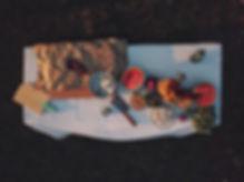 Vue aérienne de pique-nique Table