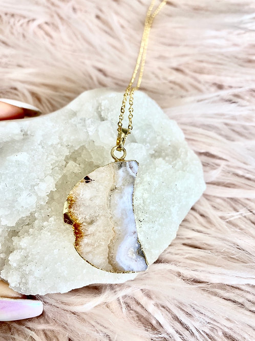 Citrine Moon 14K Gold Plated Necklace
