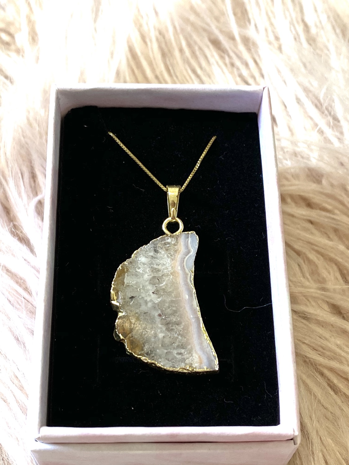 Thumbnail: Citrine Moon 14K Gold Plated Necklace