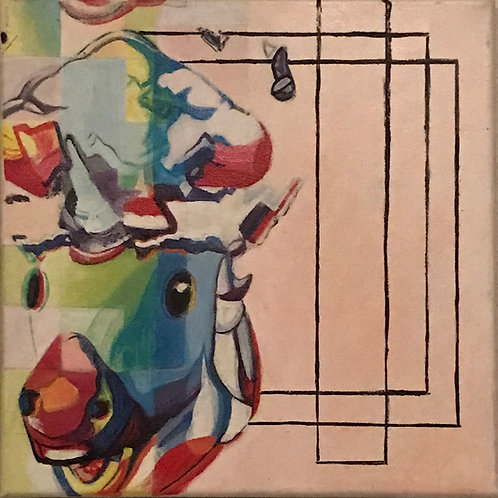 "Unicorn Abstract (10""x10"")"