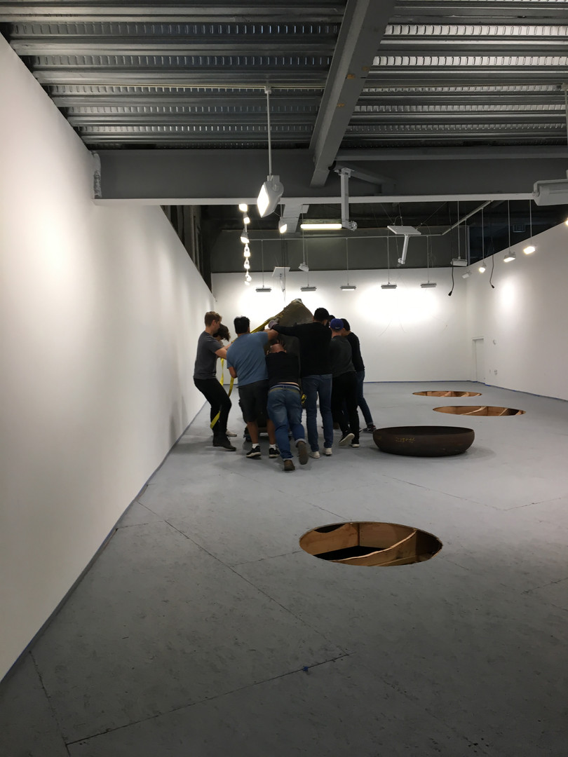 SCI Arc Gallery. Exhibition set-up.
