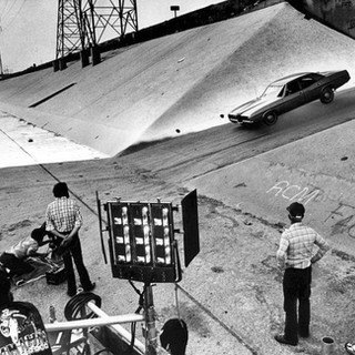 Hollywood car-chase scene.