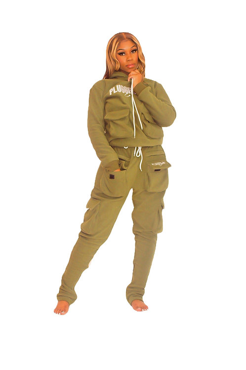 Olive Stacked Sweatsuit